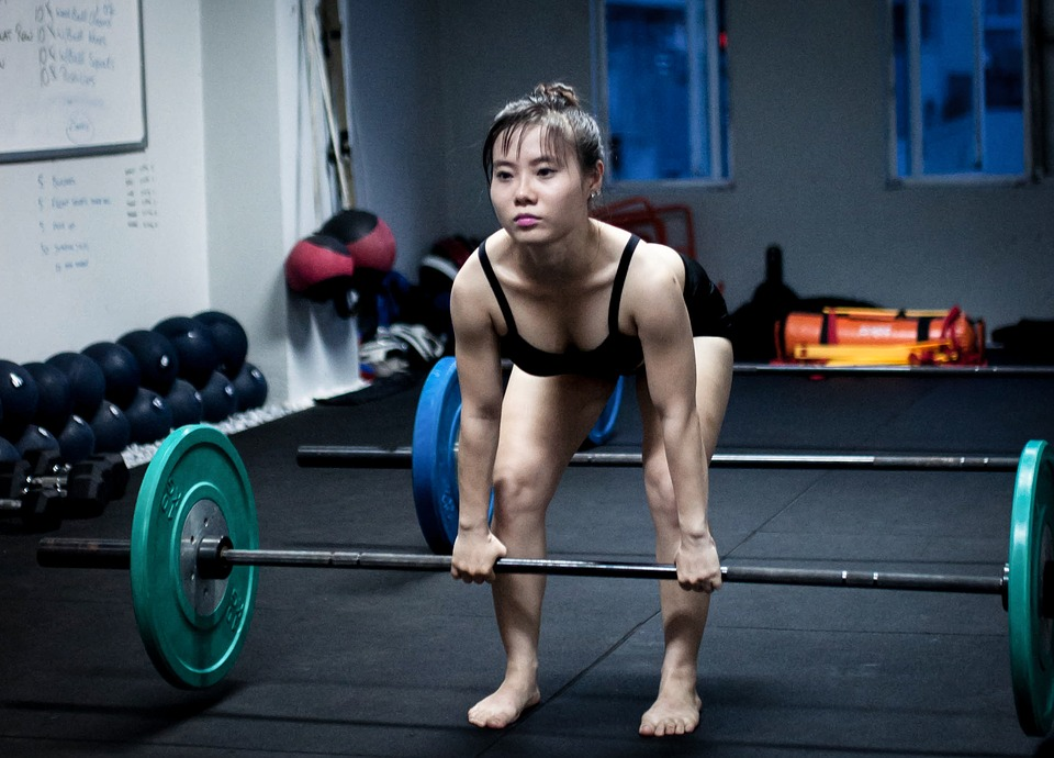 woman lifting