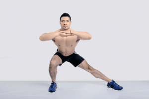 man doing lunges exercise