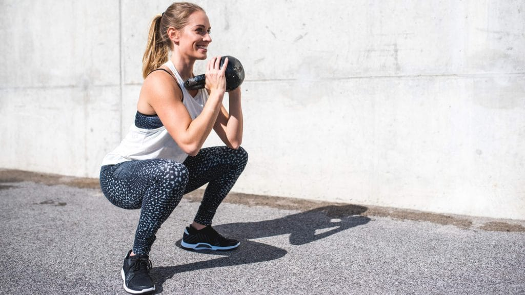 woman doing Goblet Squat