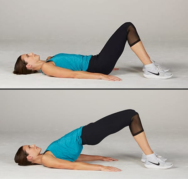 woman doing Glute Bridge
